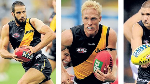 Richmond pro scout Blair Hartley's other successes include (from left) Bachar Houli, Steven Morris and Shaun Grigg.