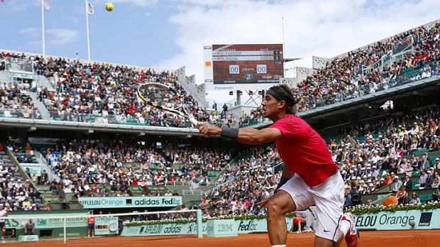 King of clay ... Rafael Nadal put on a masterclass against compatriot David Ferrer.