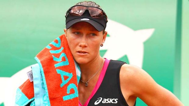 Samantha Stosur blew a great opportunity to build confidence ahead of the less favoured grass surfaces at Wimbldon.