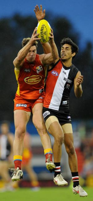 Danny Stanley's mark over Terry Millera didn't stop the Saints triumphing over the Suns.