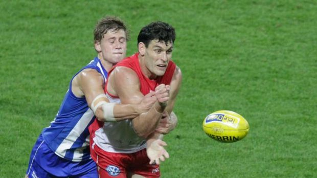 Jesse White, pictured here for the Swans AFL side, was influential for their NEAFL side yesterday.