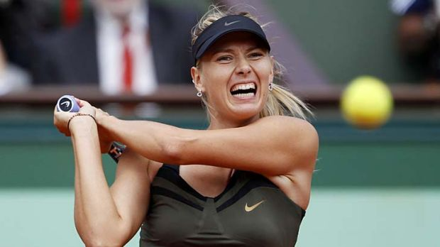Mission complete ... Sharapova has now won all four grand slams in her career.
