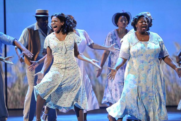 The cast of 'Porgy and Bess' onstage at the 66th Annual Tony Awards at the Beacon Theatre, New York City.