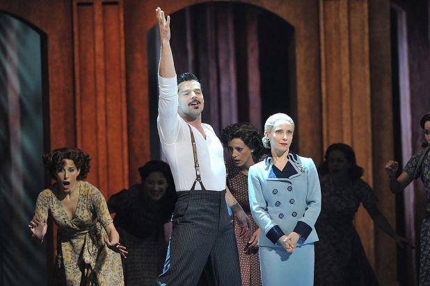 Ricky Martin and Elena Roger of 'Evita' perform onstage at the 66th Annual Tony Awards at the Beacon Theatre in New York ...