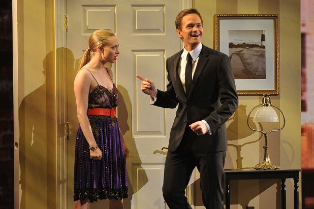 Amanda Seyfried and Neil Patrick Harris onstage at the 66th Annual Tony Awards at the Beacon Theatre, New York City.