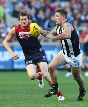 Magpie Dane Swan was best afield with 42 possessions.