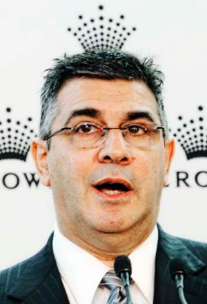 King of the AFL: Andrew Demetriou could find himself confronting a players' revolt.