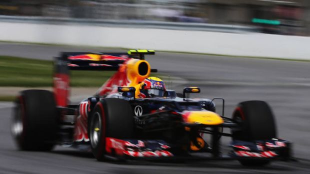 Mark Webber on his way to finishing seventh at the Canadian Grand Prix.