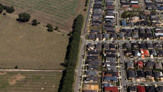 Urban sprawl: The new land release has raised concerns about a glut of housing on the city's fringe.