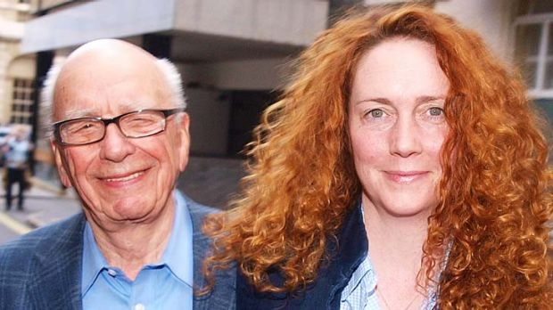 Rebekah Brooks  and Rupert Murdoch   leave from his London residence shortly after his arrival in  Britain on  July 10, ...