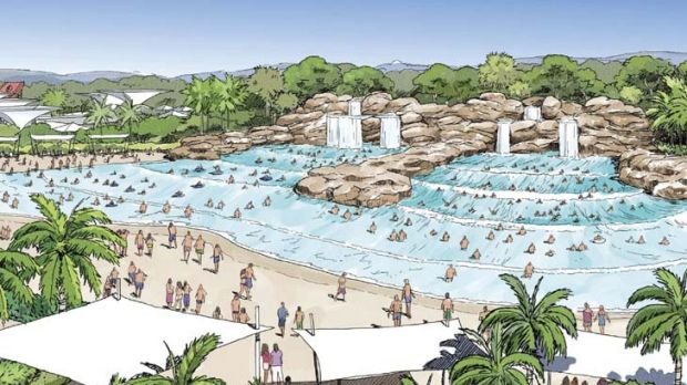 """""""The best water park in the world"""" ... an artist's impression of a proposed Wet'n'Wild pool."""