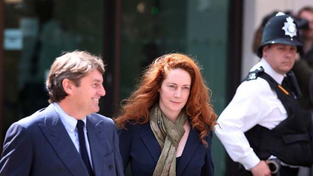 Former News International chief executive Rebekah Brooks and her husband Charlie Brooks leave Westminster Magistrates' ...
