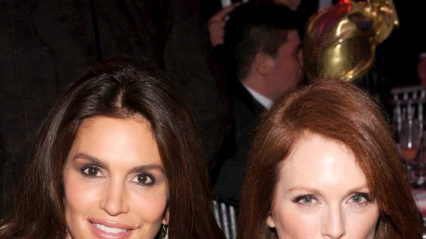 Still stunning but for how long? ... Cindy Crawford, 46, and Julianne Moore, 51.