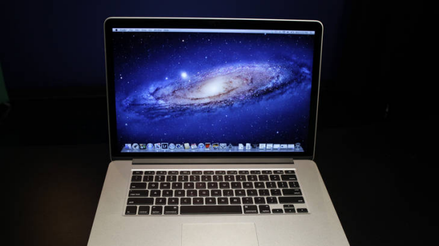 The new 15-inch MacBook Pro with Retina display, in New York.