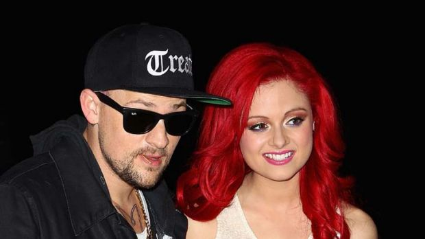 Getting by with a little help from their friends ... Joel Madden and Sara De Bono.