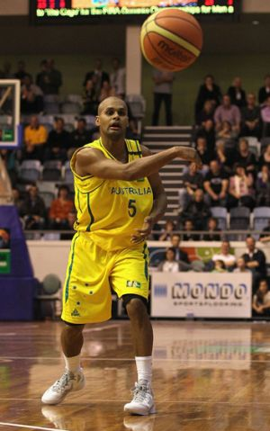 Patty Mills in action for the Boomers.