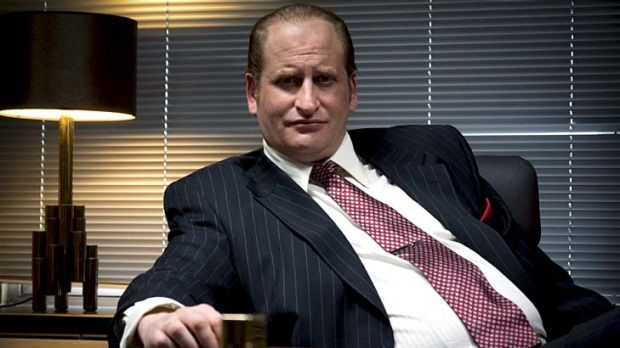 Iconic ... Lachy Hulme as Kerry Packer in <em>Howzat!</em>.