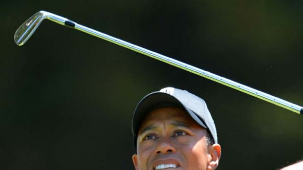 Tiger Woods is in contention to win his first major in four years.