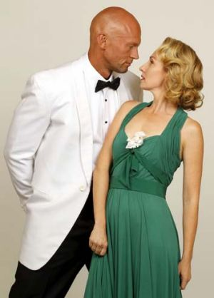 Teddy Tahu Rhodes and Lisa McCune in <em>South Pacific</em>.