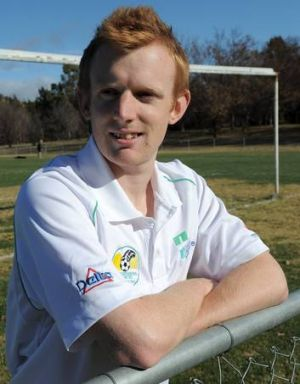 Tim Stewart scored two goals for Tuggeranong against Canberra City yesterday.