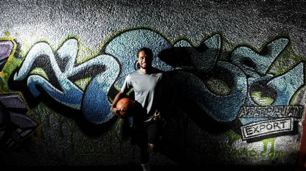 San Antonio Spurs and Boomers guard Patrick Mills pictured outside the Belconnen Basketball Centre in Canberra.