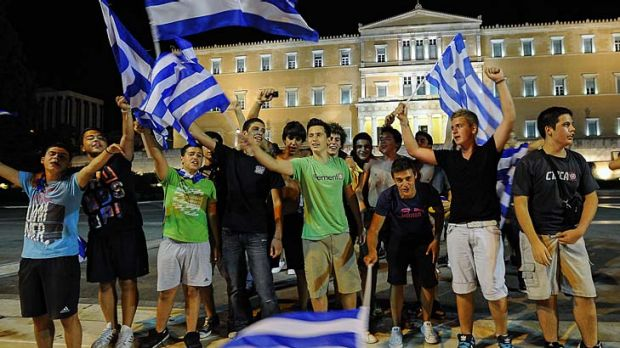 Greeks find something to cheer about at last as their national football team takes out Russia to advance to the ...