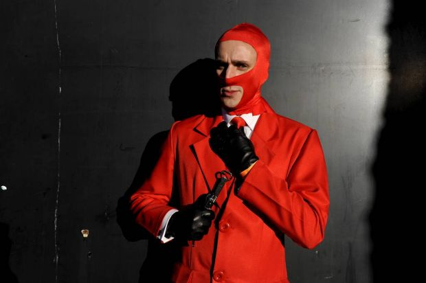 Soul poses as Red Spy, from Team Fortress 2, at the Supanova Pop Culture Exhibition at Homebush in Sydney.