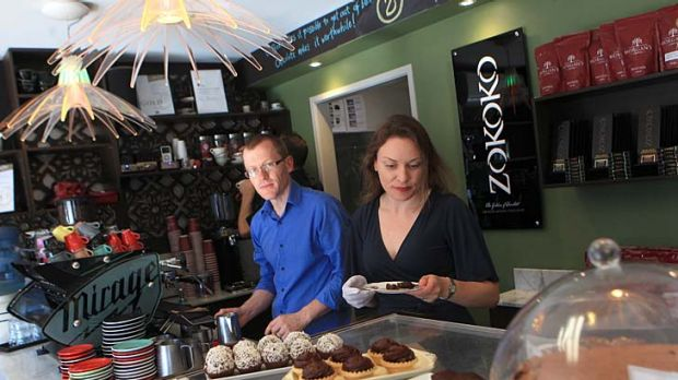 """Unquenched thirst for serious coffee"" ... Dean and Michelle Morgan at Zokoko in Emu Heights. The coffee shop has made ..."