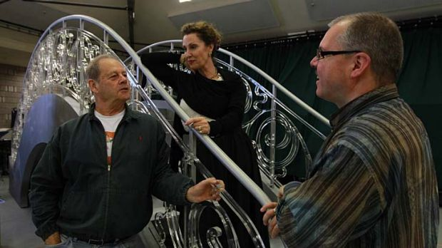 Death and a maiden ... director Bruce Beresford with singers Cheryl Barker and Stefan Vinke.
