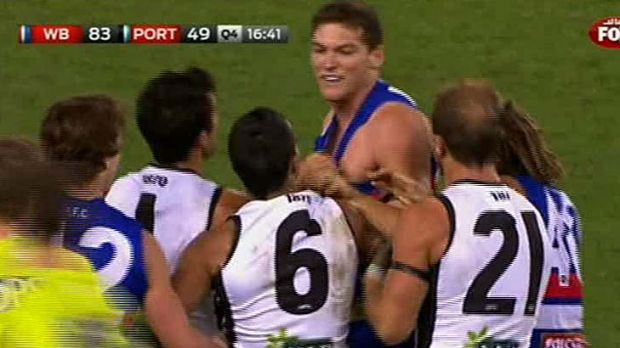 For his on-field slur directed at Danyle Pearce, Will Minson has been suspended for one match by the Bulldogs.