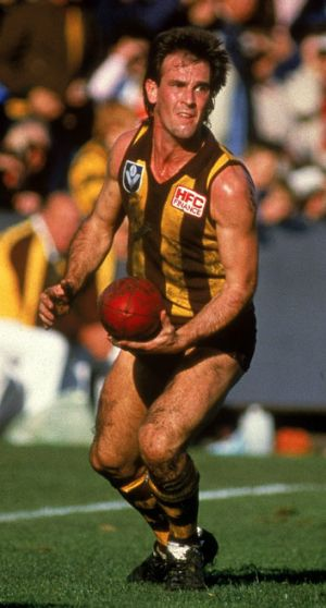 Terry Wallace in action for Hawthorn during the 1985 grand final against Essendon.