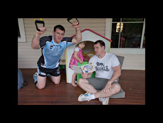2 sides of Paul Gallen.