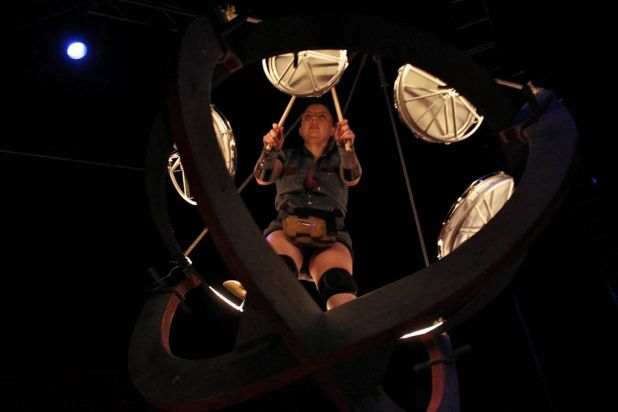 Drumming and aerial acrobatics combine in Cirucs Oz's new show, From The Ground Up.