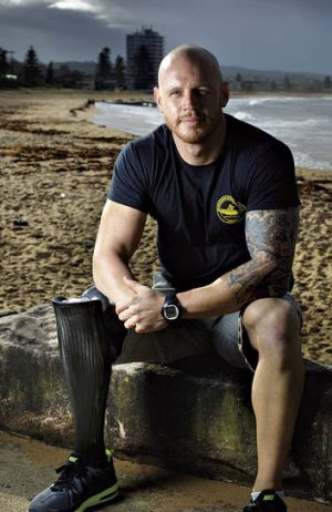 Out on a limb … navy diver Paul de Gelder, who lost  a hand and a leg to a bull shark in Sydney Harbour in 2009.