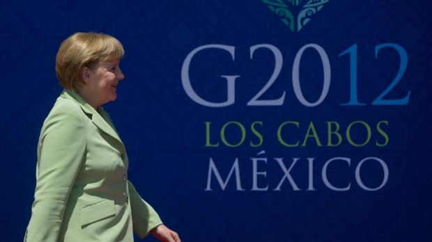 German chancellor Angela Merkel arrivers at the G20 Summit of Heads of State and Government.