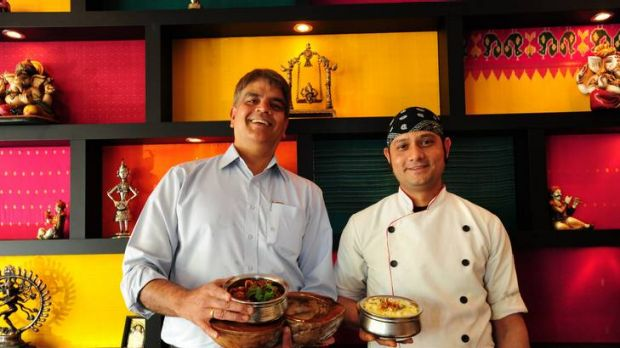 Jewel of India owner Vankatesh Ramachandran (owner) and Chef Anil Uniyal.