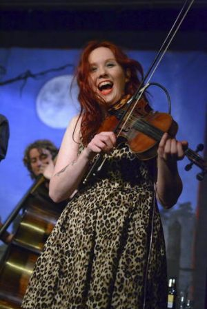 Kat Mear performs with the Quarry Mountain Dead Rats at the Saloon Shaker alt-country showcase at the Caravan Music Club ...
