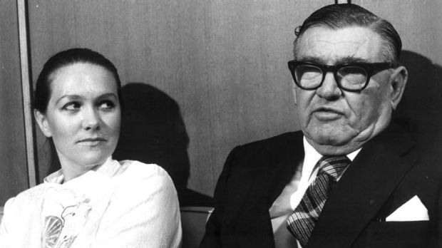 Dynastic saga ... a young Gina Rinehart with her father, Lang Hancock.