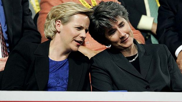 """Very happy"" ... Mary Cheney and wife, Heather Poe."