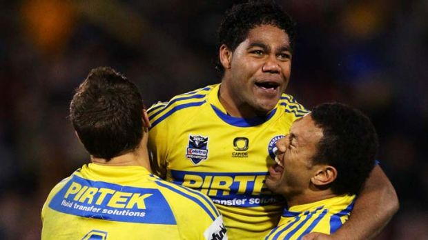 Something to cheer about ... Chris Sandow eases some of the pain of a difficult year with the winning field goal in ...
