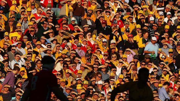 Just like the old days … Saturday's Allianz Stadium crowd for the Wallabies-Wales Test revelled in the atmosphere ...