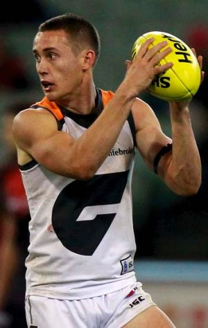 Tom Scully plays his first match at the MCG as a Giant.