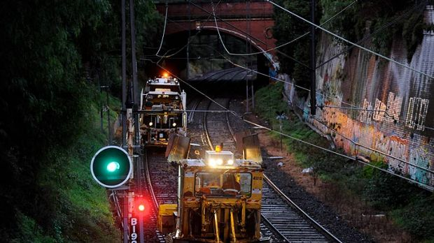 Maintenance work continues on the Sandringham line where a train derailment has forced the suspension of services.