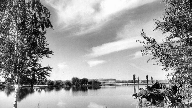 Lake Burley Griffin in 1973.