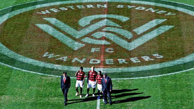 Old soccer meets new football … Western Sydney Wanderers, the A-League's 10th team, were officially launched ...