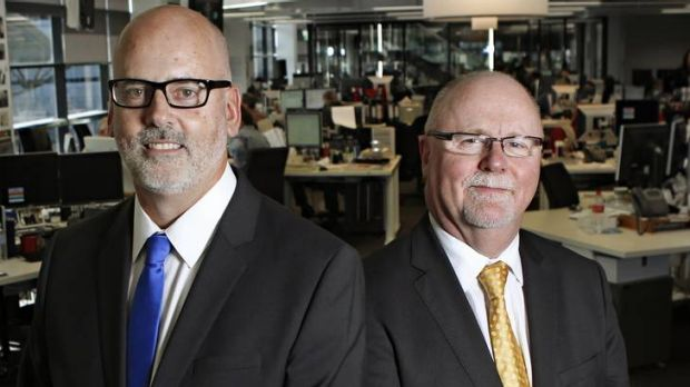 Andrew Holden, left, and Steve Foley are charged with leading The Age into a multi-platform future.