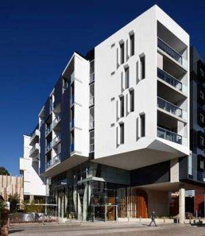 Rare city acre: While the apartments are small, much thought has gone into their design.
