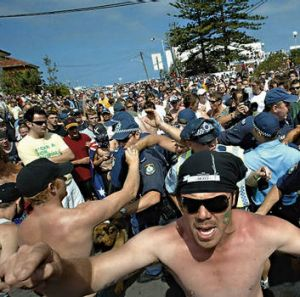 Mob mentality … the Cronulla riots of 2005.