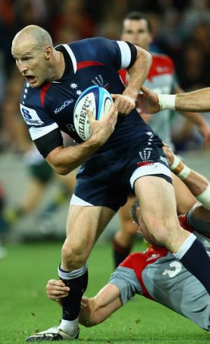 Stirling Mortlock in action for the Rebels.