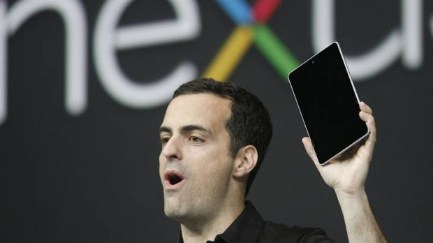 Taking on the iPad ... Hugo Barra, product management director of Android, introduces Google's Nexus 7.